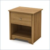 South Shore Breakwater Nightstand in Harvest Maple