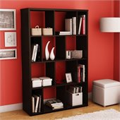 South Shore Reveal Large Bookcase in Chocolate