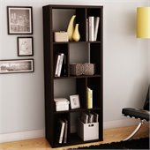 South Shore Reveal Bookcase in Chocolate