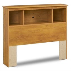 South Shore Amesbury Twin Bookcase Headboard in Pine  Finish