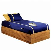 South Shore Amesbury Twin Mates Storage Bed Frame Only in Country Pine Finish