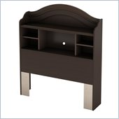 South Shore Handover Twin Bookcase Headboard Espresso