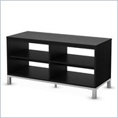 South Shore Flexible TV Stand in Black Oak