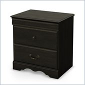 South Shore Vintage Nightstand in Ebony