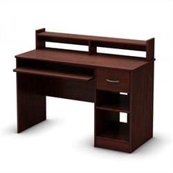 South Shore Axess Computer Desk in Royal Cherry