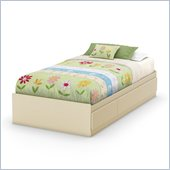 South Shore Hopedale Twin Storage Bed in Ivory