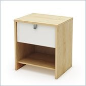 South Shore Cookie Nightstand in Champagne and White