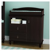 South Shore Moonlight Changing Table in Dark Mahogany