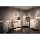 South Shore Moonlight Crib and Chest Set in Pure White