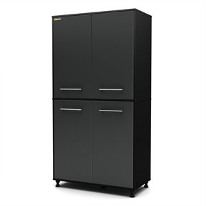 South Shore Karbon Storage Cabinet in Pure Black and Charcoal