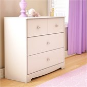 South Shore Little Jewel Country Style 3 Drawer Chest in Pure White