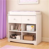 South Shore Little Jewel Country Style Changing Table in Pure White
