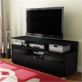 South Shore City Life II Contemporary Style TV Stand in Black Oak