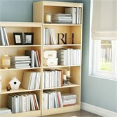 South Shore Axess Contemporary Style 5 Shelf Bookcase in Natural Maple