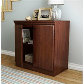 South Shore Morgan Transitional Style Storage Cabinet in Royal Cherry