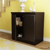 South Shore Morgan Transitional Style Storage Cabinet in Chocolate