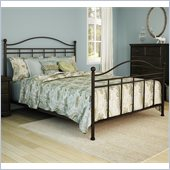 South Shore Versa Complete Queen Size Metal Bed (60'') in Bronze