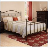 South Shore Noble Queen Size Metal Bed in Bronze