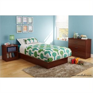 South Shore Libra 3 Piece Kids Bedroom Set in Royal Cherry