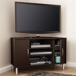 South Shore Renta Corner TV Stand in Chocolate