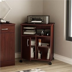 South Shore Axess Collection Printer Stand Royal Cherry
