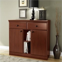 South Shore Morgan Storage Console in Royal Cherry