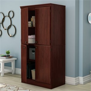 South Shore Morgan Storage Cabinet in Royal Cherry