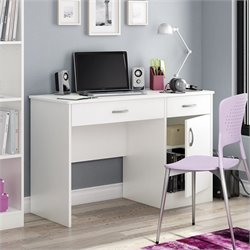 South Shore Axess Small Computer Desk in White