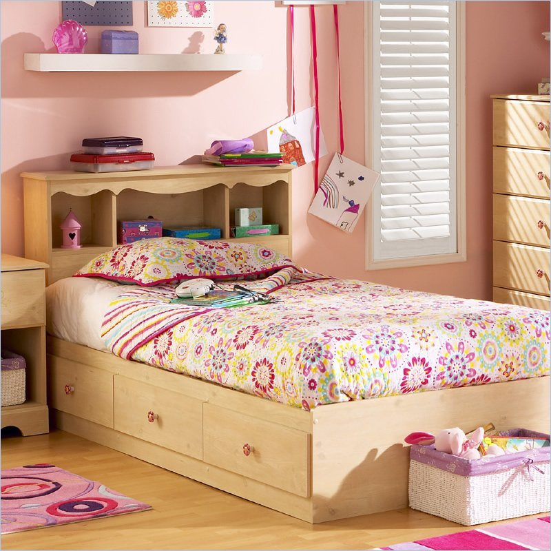 South Shore Lily Rose Kids Twin 3 Drawer Storage Frame