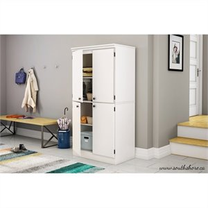 South Shore Morgan 4 Door Storage Cabinet in Pure White