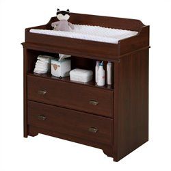 South Shore Fundy Tide Changing Table in Royal Cherry