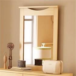 South Shore Copley Vertical Mirror in Natural Maple