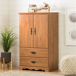 South Shore Prairie Country Pine Armoire