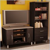 South Shore Cosmos Black TV Stand