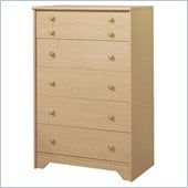 South Shore Newton Kids 5 Drawer Chest in Natural Maple Finish