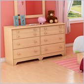 South Shore Newton Double Dresser in Natural Maple