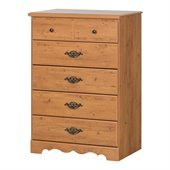 South Shore Prairie Kids 5 Drawer Chest in Country Pine Finish