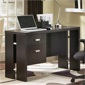 South Shore Element Wood Computer Desk in Chocolate