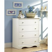 South Shore Andover 4 Drawer Chest in White Finish