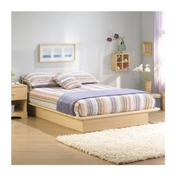 South Shore Copley Platform Bed Frame Only in Natural Maple