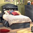 ADD TO YOUR SET: South Shore Summer Breeze Twin Captain's Bed Frame Only in Antique Blue Finish