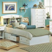 South Shore Newbury Twin Storage Bed Frame Only in White