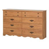 South Shore Prairie Double Dresser in Country Pine