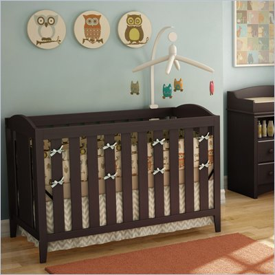South Shore Crib in Espresso Finish