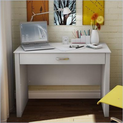 South Shore Secretary Desk in White Finish