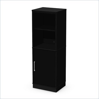 South Shore Academic Bookcase in Black Oak