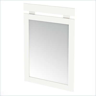 South Shore Affinato Vertical Mirror in Pure White Finish