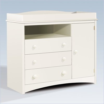 South Shore Andover Wood Baby Changing Table in White