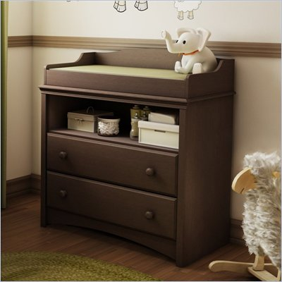 South Shore Furniture Angel Changing Table in Espresso Finish
