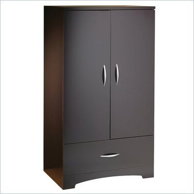 South Shore Back Bay Armoire in Dark Chocolate